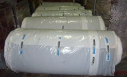 Rubber coated fabric in rolls