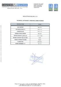 EPDM reclaimed rubber
